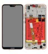 Display (LCD + Touch) + Frame + Battery für ANE-L21 Huawei P20 Lite Dual - sakura pink