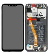 Display (LCD + Touch) + Frame + Battery für (INE-LX1) Huawei P Smart + - black