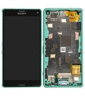 LCD +Touch + Frame für D5803, D5833 Sony Xperia Z3 compact - green