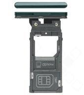 SIM Tray für H9436, H9493 Sony Xperia XZ3 Dual - forest green