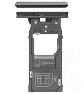 SIM Tray für H8166 Sony Xperia XZ2 Premium - chrome black
