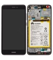 Display (LCD + Touch) + Frame + Battery für PRA-L21 Huawei P8 Lite 2017 DUAL - black