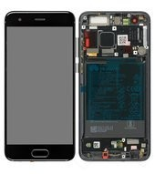 Display (LCD + Touch) + Frame + Battery für STF-L09, L19 Huawei Honor 9, Honor 9 Premium - black