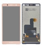 LCD + Touch + Frame für H8314, H8324 Sony Xperia XZ2 Compact Dual - coral pink