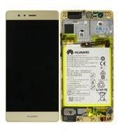LCD + Touch + Frame + Battery für EVA-L09 Huawei P9 - haze gold