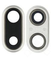 Main Camera Lens + Frame für Apple iPhone 8 Plus - silver