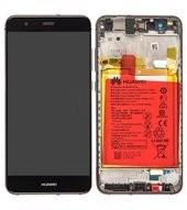 LCD + Touch + Frame + Battery für Huawei P10 Lite - black