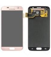 LCD + Touch für G930F Samsung Galaxy S7 - pink