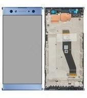 Display (LCD + Touch) + Frame für H3212, H3223, H4213, H4223 Sony Xperia XA2 Ultra - blue