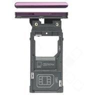 SIM Tray für H9436, H9493 Sony Xperia XZ3 Dual - bordeaux red