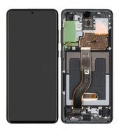 Display (LCD + Touch) + Frame für G985F, G986B Samsung Galaxy S20+ - cosmic black