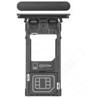 SIM Tray für H8324 Sony Xperia XZ2 Compact Dual - black