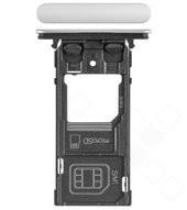 SIM Tray für (H8324) Sony Xperia XZ2 Compact Dual - white silver