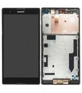 Display (A-Cover + LCD) + Touchscreen black für Xperia T2 Ultra Dual