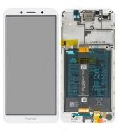 Display (LCD + Touch) + Frame + Battery für Honor 7S - white