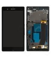 Display (LCD + Touch) + Frame für C6603 Sony Xperia Z - black