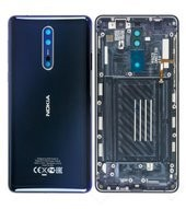 Battery Cover für (TA-1004) Nokia 8 DUAL - polished blue