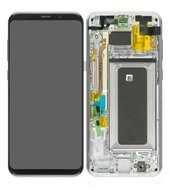 Display (LCD + Touch) + Frame für G955F Samsung Galaxy S8+ - arctic silver