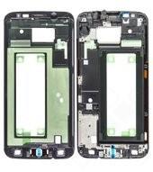 Front Cover black für Samsung G925F Galaxy S6 Edge