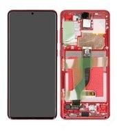 Display (LCD + Touch) + Frame für G985F, G986B Samsung Galaxy S20+ 5G - aura red