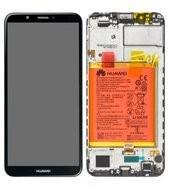LCD + Touch + Frame + Battery für LDN-L01, LDN-L21, LDN-LX3 Huawei Y7 2018 - black
