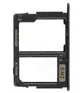 SIM / SD Tray für J330F/DS Samsung Galaxy J3 2017 - black