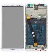 Display (LCD + Touch) + Frame + Battery für RNE-L01, RNE-L21 Huawei Mate 10 Lite - white gold