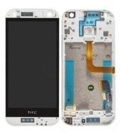 Display (LCD + Touch) + Frame für HTC One mini 2, M8 mini - glacial silver