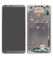 LCD + Touch + Frame für H870 LG G6 - ice platinum