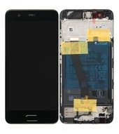Display (LCD + Touch) + Frame + Battery für VTR-L29 Huawei P10 - graphite black