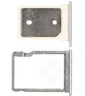 SIM + SD tray silver für HTC One M9+