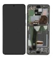 Display (LCD + Touch) + Frame für G988B Samsung Galaxy S20 Ultra - cloud white