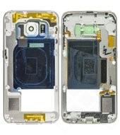 Main Frame white für Samsung G925F Galaxy S6 Edge