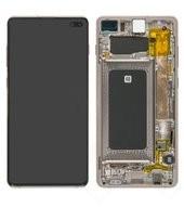 Display (LCD + Touch) + Frame für G975F Samsung Galaxy S10+ - ceramic white