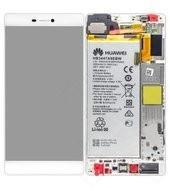 Display (LCD + Touch) + Frame + Akku white für Huawei P8