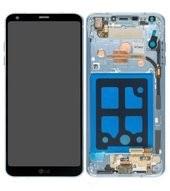 Display (LCD + Touch) + Frame für H870 LG G6 - marine blue