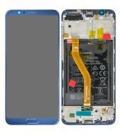 LCD + Touch + Frame + Battery für BKL-L09 Honor View 10 - navy blue