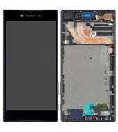 Display (LCD + Touch) + Frame für E6833 Sony Xperia Z5 Premium Dual - black