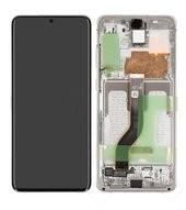 Display (LCD + Touch) + Frame für G985F, G986B Samsung Galaxy S20+ 5G - cloud white