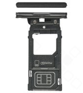 SIM Tray für H8116 Sony Xperia XZ2 Premium - chrome black