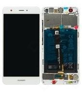 Display (LCD + Touch) + Frame + Battery für Huawei Nova - white