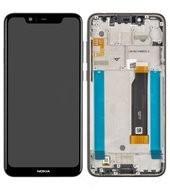 Display (LCD + Touch) + Frame für TA-1105, TA-1108 Nokia 5.1 Plus - night black