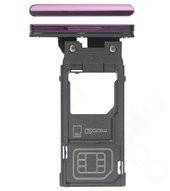 SIM Tray für H8416, H9436, H9493 Sony Xperia XZ3 - bordeaux red