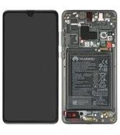 Display (LCD + Touch) + Frame + Battery für HMA-L09, HMA-L29 Huawei Mate 20 - black