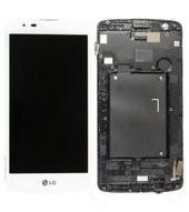 Display (LCD + Touch) + Frame für K350N LG K8 - white