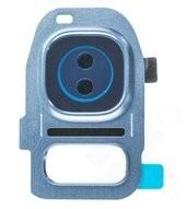 Camera Frame für G930F, G935F Samsung Galaxy S7, S7 Edge - blue