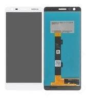 LCD + Touch für TA-1057, TA-1063 Nokia 3.1 - white iron