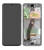 LCD + Touch + Frame für G980F, G981B Samsung Galaxy S20, S20 5G - cosmic grey