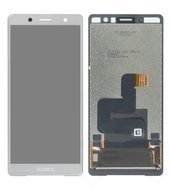 Display (LCD + Touch) für H8314, H8324 Sony Xperia XZ2 Compact Dual - white silver