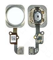 Home Button + Flex für Apple iPhone 6, 6 Plus - white silver